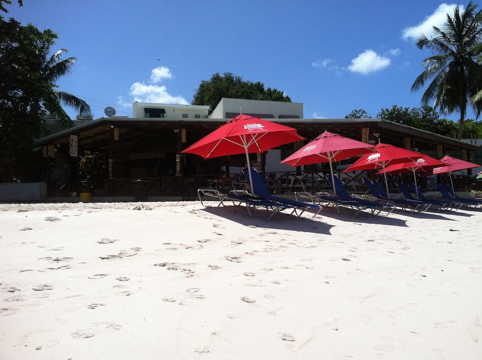 Tiki Hut at Accra Beach Barbados by RT Photography